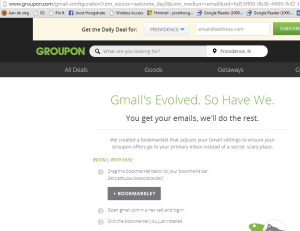 How Groupon makes sure their emails are being received in Gmail's Primary Tab